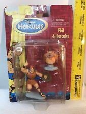 1997 Mattel Disney Hercules & Phil Toy Action Figures Nip New Mib