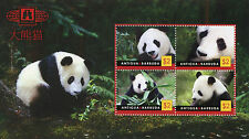 Antigua & Barbuda 2010 neuf sans charnière CHINE EXPO Beijing giant pandas 4 V M/S Animaux Timbres