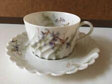 Tasse Haviland Porcelaine de Limoges France Décors Bleuets