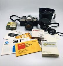 Vintage Minolta Xg-1 35mm Slr Film Camera Minolta Rokkor 45 Mm 1:2 Lens & Xtras