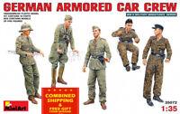 Miniart 35072 - 1/35 scale German Armored Car Crew 5 Figures WW II model kit