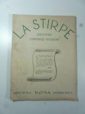 La stirpe. Direttore Edmondo Rossoni, n. 12, dicembre 1930