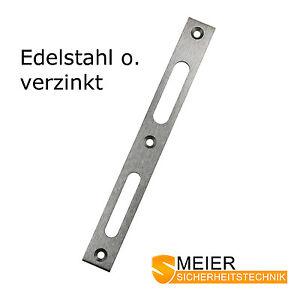 Sicherheits Flachschliessblech 215x24x3mm Edelstahl verzinkt Schliessblech NEU