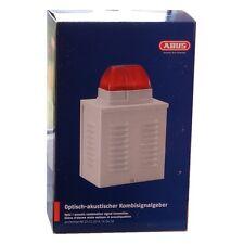 ABUS SG1650 Außen Alarm Sirene 110 dB mit Xenon Blitzleuchte Blitzlicht rot OVP!