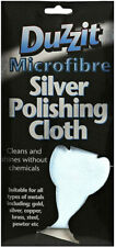 1 x Duzzit Silver Microfibre Silver Polishing Cloth for Gold Cooper Brass Steel