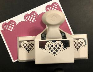 Martha Stewart LATTICE HEART Punch Scallop Valentine Cards Doily Lace Scrapbook