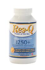 Res-Q 1250+ Omega-3 & Vitamin D3 Fish Oil 200 Capsules