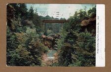 Scranton,PA Pennsylvania, Bridge at Nay Aug Falls used 1909