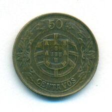 PORTUGAL COIN 50 CENTAVOS 1926 ALUMINIUM-BRONZE KM#575 XF/AU