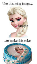 Frozen ELSA Head CAKE Decoration Topper Edible ICING Image