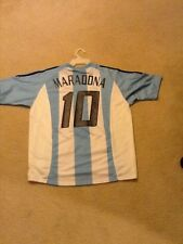 Diego Maradona Argentina Adidas #10 Jersey Soccer Vintage Men's Medium Climalite