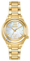 Citizen Eco-Drive Women's Sunrise Diamond Accents Gold Tone Watch EM0512-58D