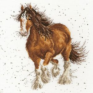 Bothy Threads ~ Counted Cross Stitch Kit ~ Feathers ~ Shire Horse  XHD43