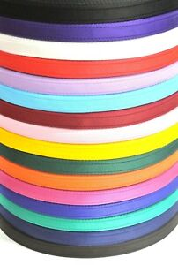 25mm Cushion Webbing In 20 Colours Bags Straps Leads Craft 1m 2m 5m 10m 25m 50m
