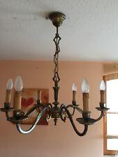 Kronleuchter Messing Leuchter Lampe Wohnzimmer Antik Alt Massiv Deckenlampe