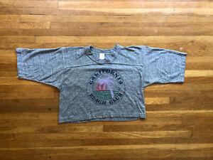 Vintage 80s California Beach Club Crop Tourist T-Shirt Top Single Stitch S M L