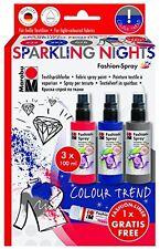 Marabu fashion Spray Set-peinture aérosol pour le tissu T shirts nuits mousseux etc