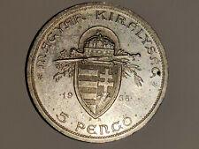 5 Pengö 1938 Silber Magyar Kiralysac