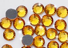 210 STRASS ADESIVI 8mm Giallo Dorato hotfix Brillantini Stickers Cristal Oro