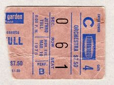 1975 Jethro Tull concert ticket stub Madison Square Garden Minstrel The Gallery