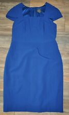Adrianna Papell Ladies Cap Sleeve Blue Pencil Cocktail Dress UK 16