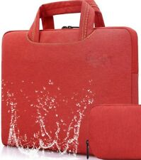 10 - 14 inch laptop tablet bag sleeve case Red Rawboe