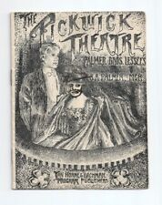 Vaudeville Program  Pickwick Theater San Diego , October, 1906 EXC