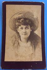 *Original* ESTELLE CLAYTON 1890's Cabinet Photo AMERICAN STAGE ACTRESS