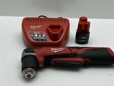 "Milwaukee 2415-20 Cordless Li-Ion 3/8"" Right Angle Drill 12V M12 Battery/Charger"