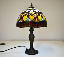 TIFFANY STYLE UNIQUE STAINED GLASS DESK TABLE LAMP HOME DECOR STYLISH CLASSIC