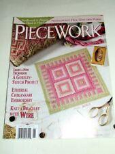 Piecework May/Jun 2003~Magazine~Gobelin-Stitch Technique~Chikankari Embroidery