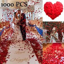 1000 Pcs Fake Rose Flower Artificial Petals Wedding Birthday Party Event Decor