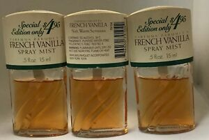 3 Parfums Parquets French Vanilla Spray Mist 0.5 fl oz / 15  ml  2 to 5 % low