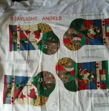 Starlight Angel Fabric Panel ~ 2 Christmas Stockings ~ Santa, Angel ~ 12