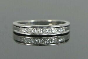 $1,495 HOA-T 18K White Gold Princess Channel Set Wedding Band Anniversary Ring