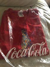COCA COLA T SHIRT COKE BOTTLE SPLASH PAINT RED XL COTTON NEW SEALED