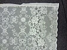New listing Vtg Lace Curtain Jr Burrows Co-Made in Great Britain-Flowers-54 x 96