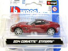 BURAGO Diecast car 2014 CORVETTE STINGRAY NEW on card 1:64
