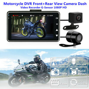 "Motorcycle DVR Front & Rear View Camera 3"" Dash Auto Video Recorder G-Sensor HD"