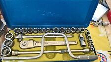 "Vintage Rheidco 1/2"" drive A/F - Whitworth Socket Set  Made in Germany"