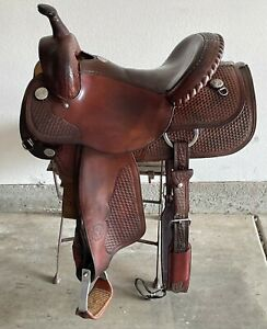 Circle Y Team Penning Ranch Saddle 15 inch Great Condition