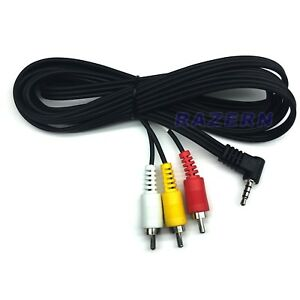 3 ft 3.5mm mini plug to RCA AV cable hook older 8mm and Mini DV camcorder to TV