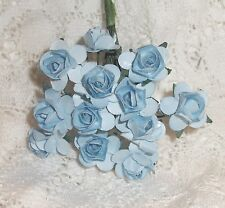 VINTAGE Parchment TINY roses cluster DOLL CLOTHES Alexander & Ginny LIGHT BLUE