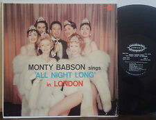 "MONTY BABSON ""All Night Long in London"" ULTRA RARE 1959 JUBILEE MONO LP Reg Owen"