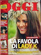 Oggi-'10-KATE MIDDLETON,Ingrid Betancourt,Annamaria Barbera,Francesco Totti,n.49