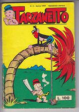TARZANETTO  n.  3 - ed. Dardo 1959  # ottimo - completo con figurine NAPOLEONE