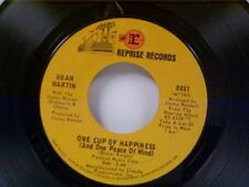 """DEAN MARTIN """"ONE CUP OF HAPPINESS / CRYING TIME"""" 45 NEAR MINT"""
