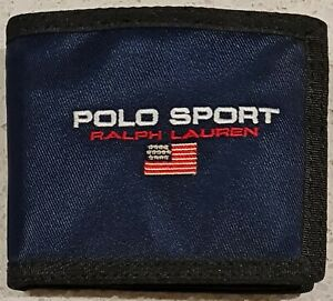Polo Ralph Lauren Mens Polo Sport Nylon Billfold Wallet with Zip in Navy