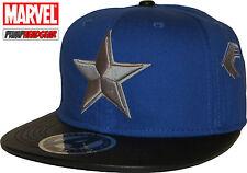Marvel Comics Captain America Star Logo Blue/Black Snapback Cap