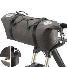 RockBros Bicycle Roll Bag&handlebar Bag Waterproof Front Pannier Black Gold